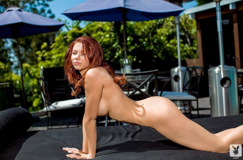 Рыжая сучка на террасе