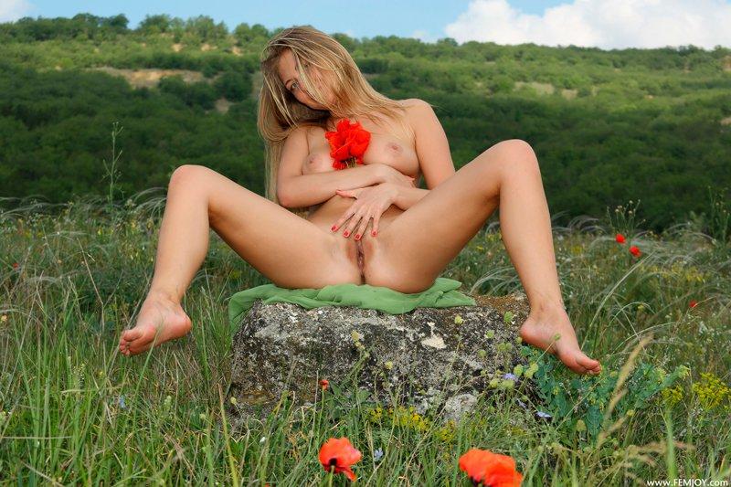 Фото эротики телки на лугу