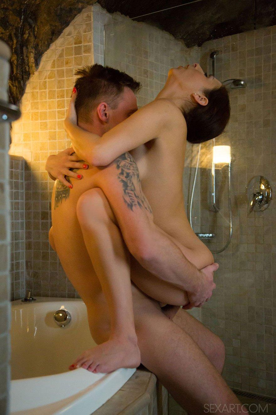 Секс На Дома На Парнем На Ванне
