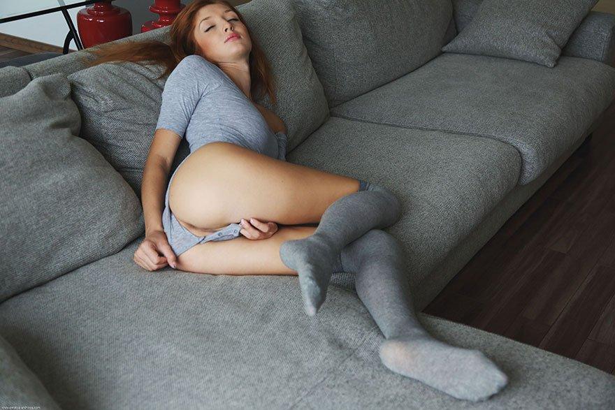 чулках серых подборка в порно