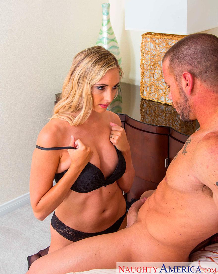 Секс с блондинкой зрелой