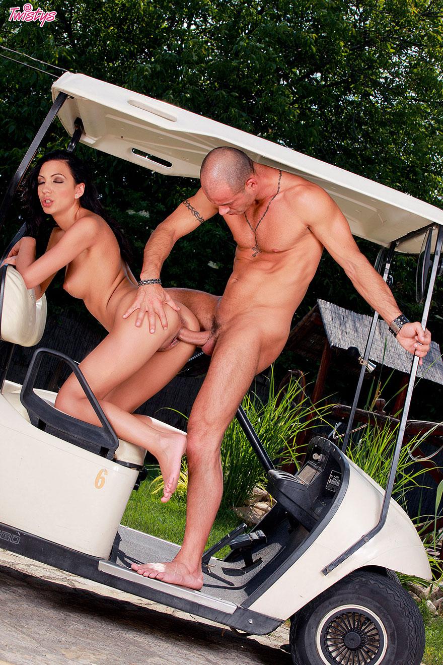 порно на гольфе