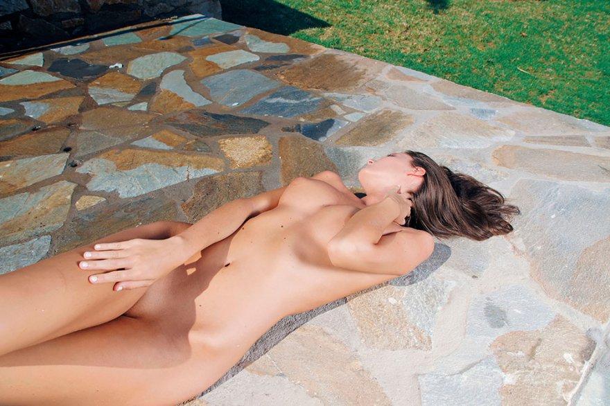 Изумительная порнушка модели в душе
