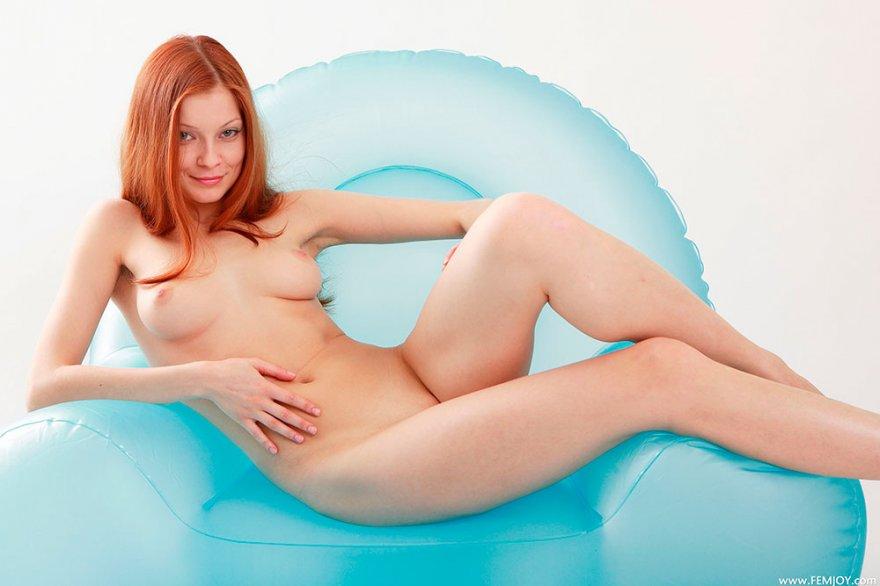 Порно на кресле надувном