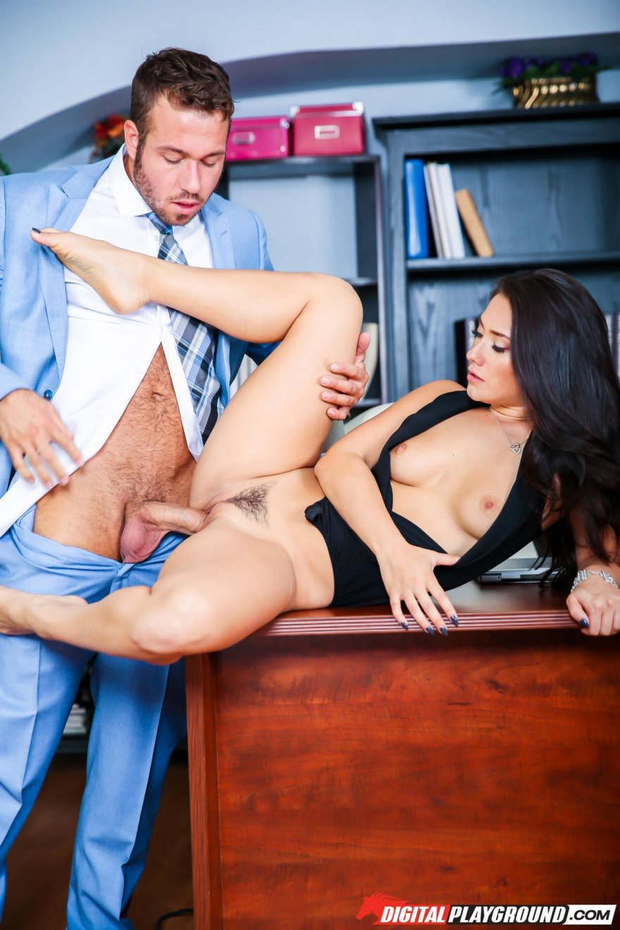 Amazing sex on the office table