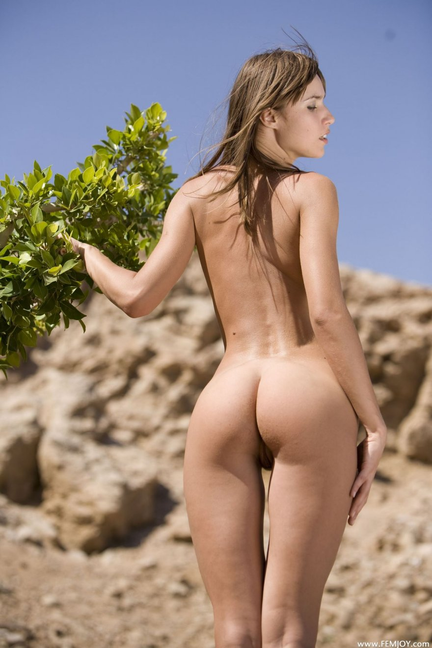 Эротические изображения обнаженной женщины на открытом воздухе