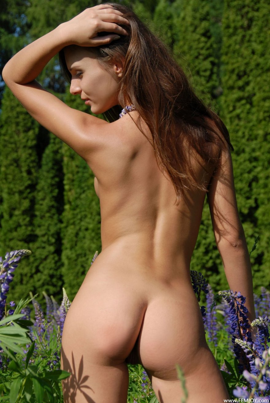 Длинноногие фото подтянутой девки на лугу секс фото