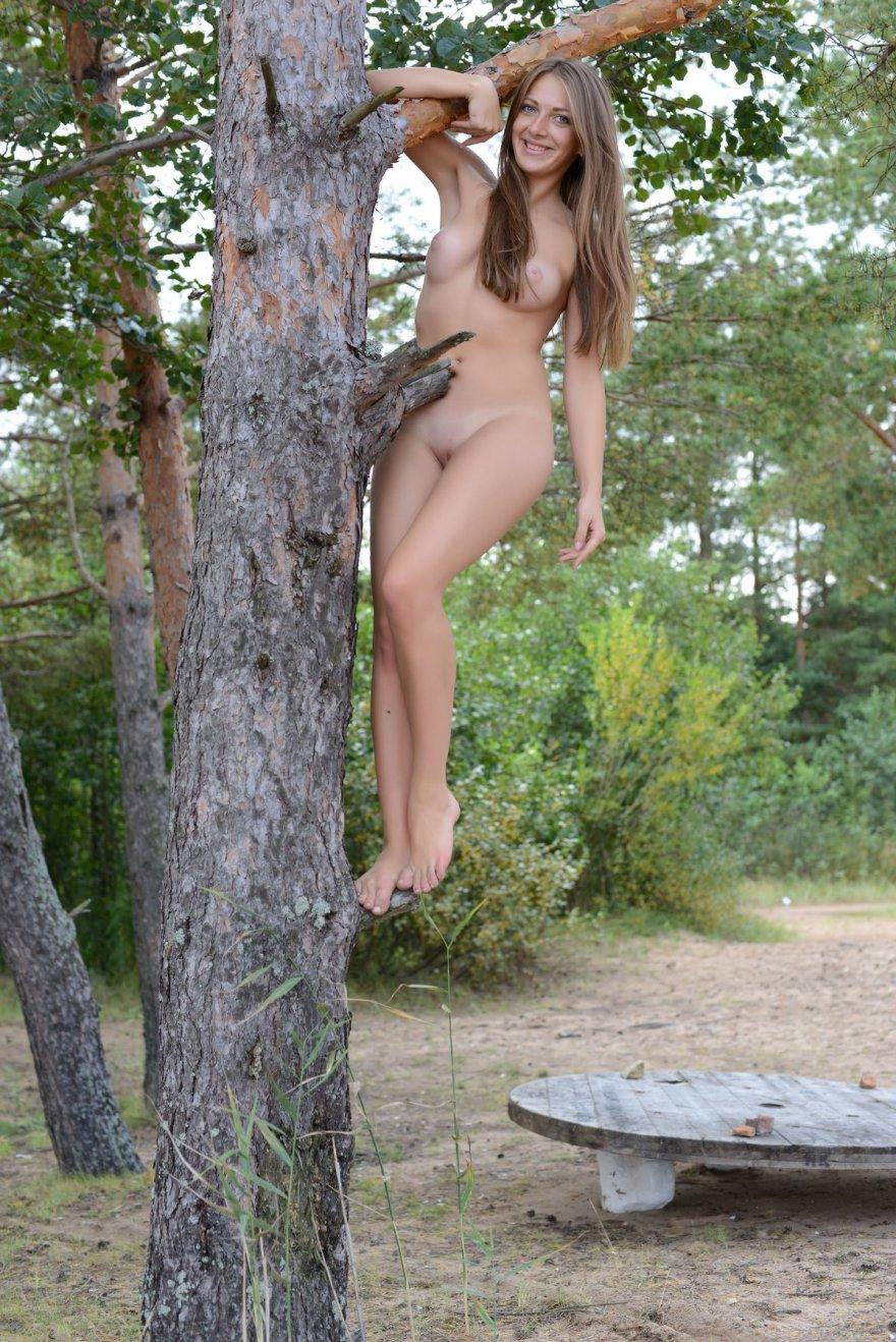 Секс фото голой девахи с привлекательной попкой под елкой смотреть эротику