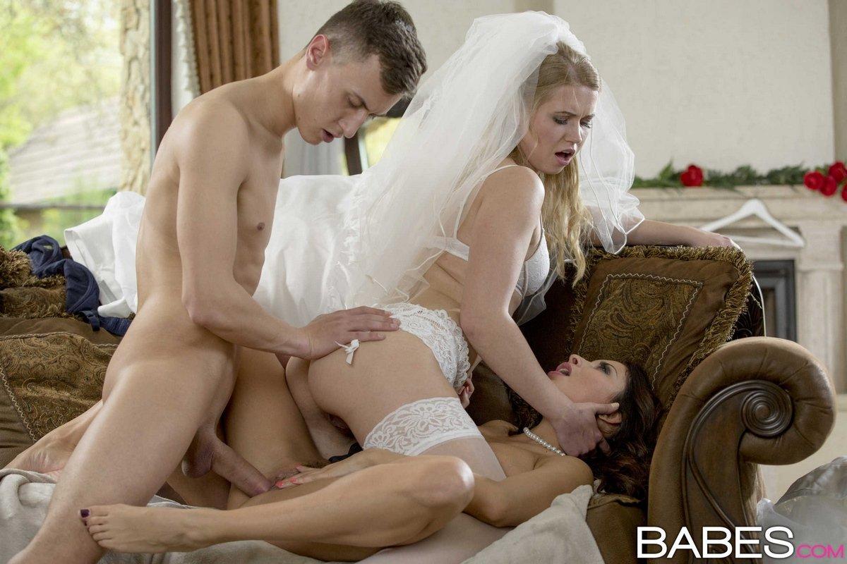 Секс втроем с невестой на свадьбе