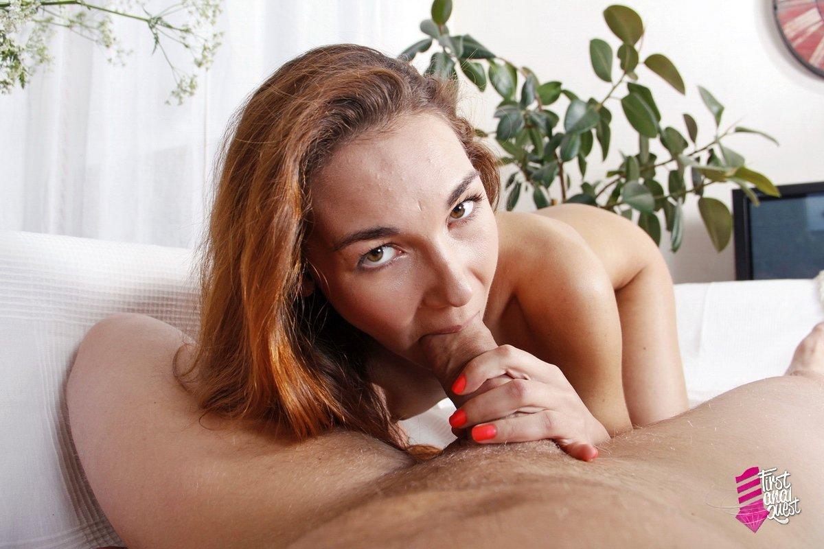 Анальное порно с рыжей девицей
