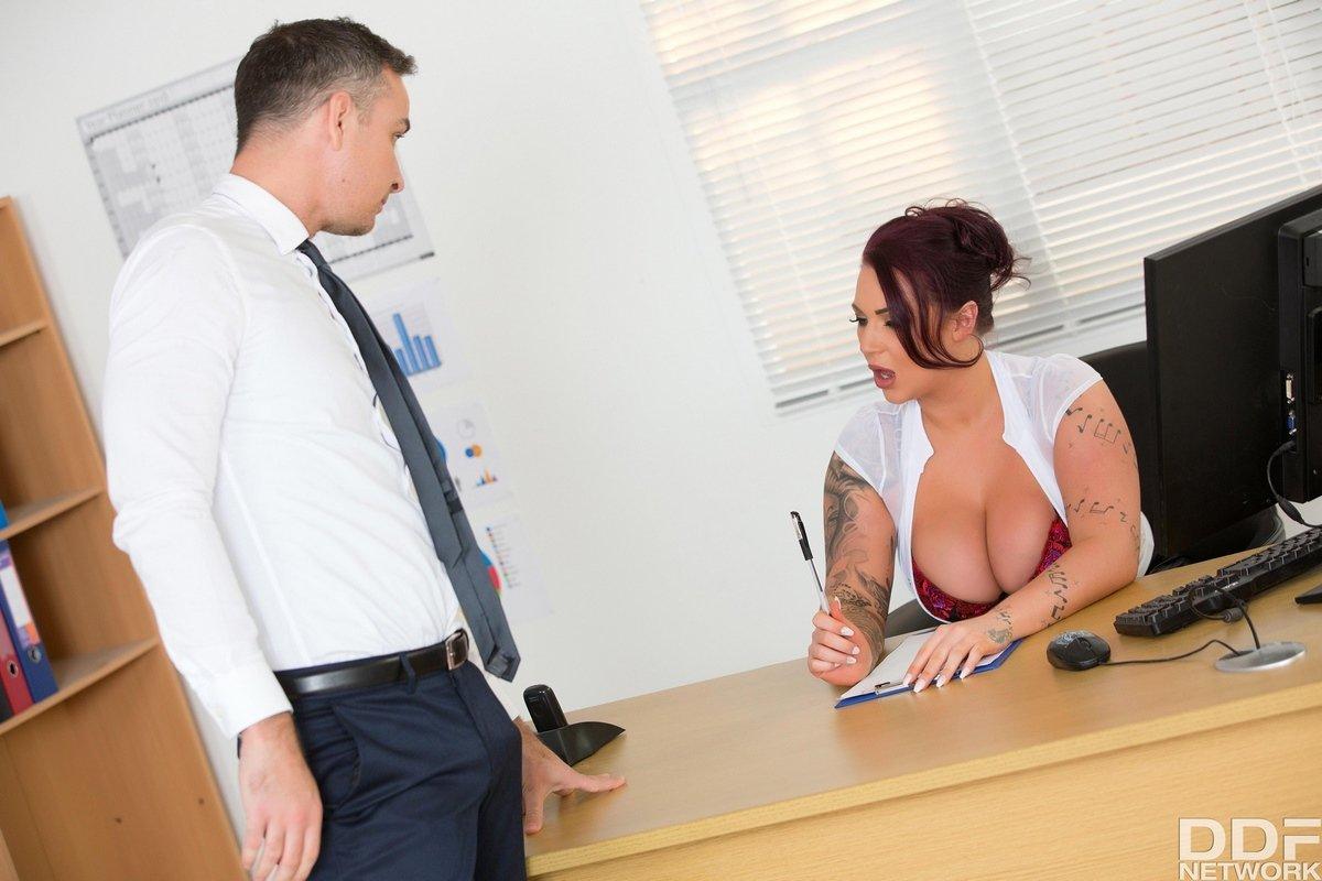 Hot big tit boss susy gala fucks her employee in the office bathroom