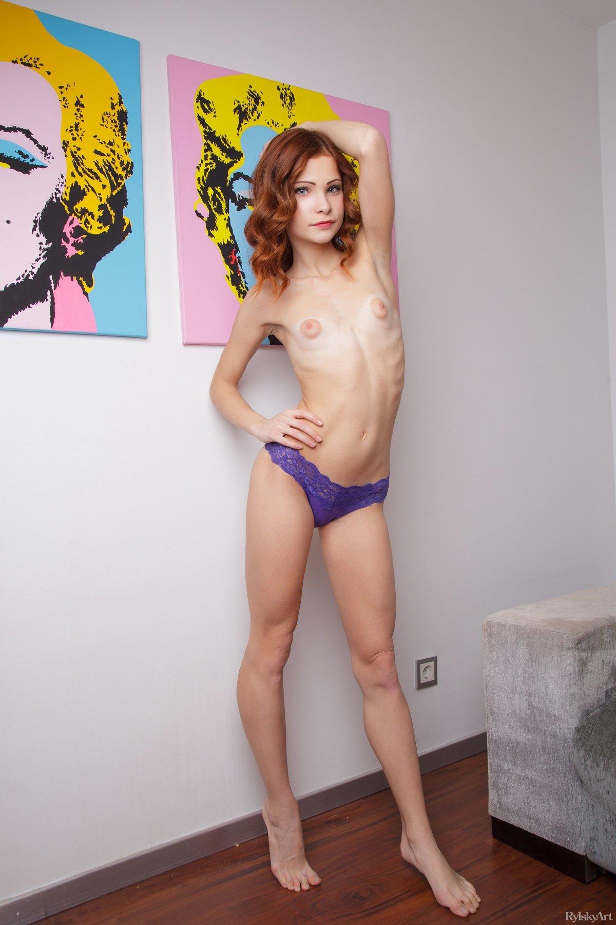 Порно худая рыжая