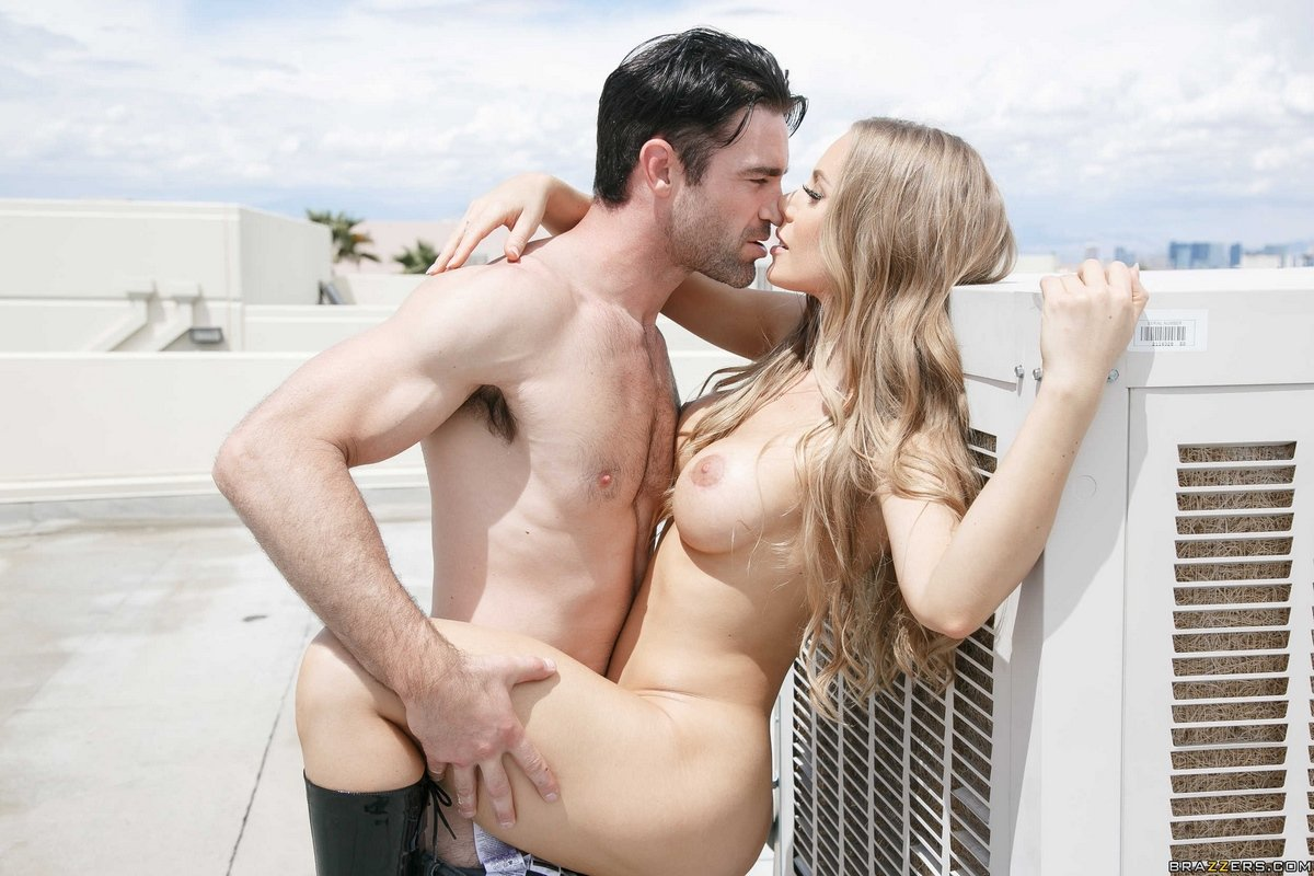 Amazing Wild Sex With Slender Russian Blondie On The Balcony